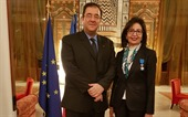 November 23, 2017- Bruno Foucher, Ambassador of France to Lebanon, decorated Nada Sardouk, director general of the Lebanese Ministry of Tourism with the knight's insignia in the National Order of Merit.